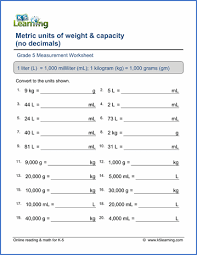 grade 5 measurement worksheets free u0026 printable k5 learning