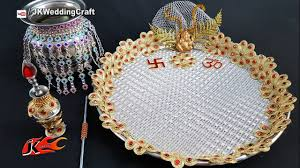 wedding plate diy decorative pooja thali wedding plate decoration jk wedding