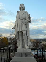 pittston u0027s columbus statue roadside wonders