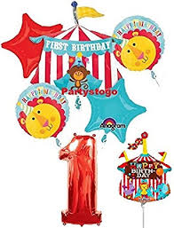 circus balloon fisher price 1st birthday circus balloons bouquet with
