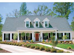 Country Style Home Plans With Wrap Around Porches Houseplans Com Country Farmhouse Front Elevation Plan 120 183