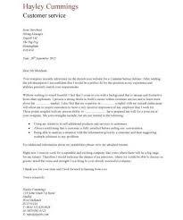 cover letter for customer service resume