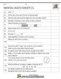 2nd grade mental math image result for mental maths worksheets numeration