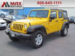 2009 Jeep Wrangler Interior Yellow Jeep Wrangler In Hawaii For Sale Used Cars On Buysellsearch