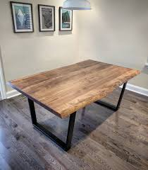 maple dining room sets black maple reclaimed wood table by live edge atlanta apartment