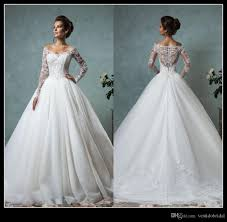 discount designer wedding dresses discount designer sleeve a line wedding dresses 2016 v neck