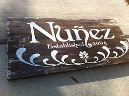 family plaque nuñez many splintered things