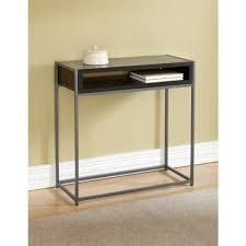 Black Console Table With Storage Tag Wabash Black Storage Console Table Tag390125 The Home Depot