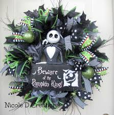 halloween wreath jack skellington wreath front door decor