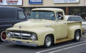 Antique Ford Truck Club - 1956 ford f100 pickup beige fvl ford products antique