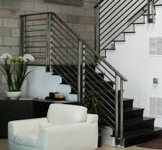 modern minimalist design of the indoor balcony railings that has