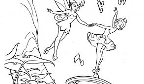 Tinkerbell And Music Box Coloring Pages Free Coloring Pages For Box Coloring Pages