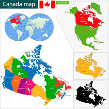 Newfoundland Canada Map by Colorful Canada Map With Provinces And Capital Cities Royalty Free