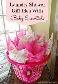 baby shower baskets baby shower gift idea with essentials in a laundry basket
