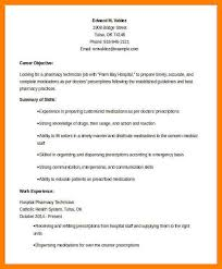 Examples Of Pharmacy Technician Resumes by 6 Resume For Pharmacy Technician Packaging Clerks