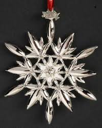 snowflake ornaments waterford silver snowflake ornaments at replacements ltd