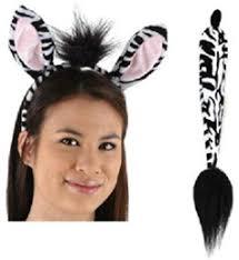 zebra ears and tail costume set