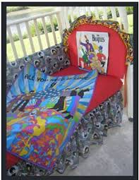Rock N Roll Crib Bedding Psychedelic Beatles Rock And Roll Musical Baby Crib Bedding