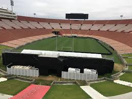 clearspan tent structures at the los angeles memorial coliseum