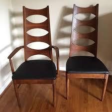 Modern Walnut Dining Chairs Mid Century Modern Walnut Dining Chair Set By Coffey Perspecta 6