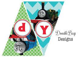 doodlebug designs thomas train birthday banner free printable