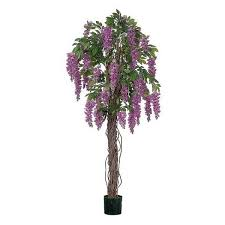 artificial wisteria tree 121cm 4ft purple