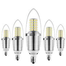 bogao 5 pack led candelabra bulb 12w daylight led candle bulbs
