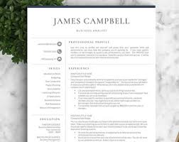 Two Page Resume Sample by Resume Template Etsy