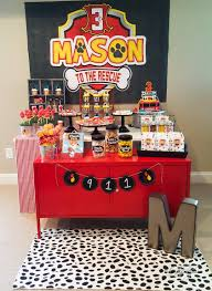 paw patrol candy table ideas fire pup to the rescue birthday