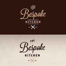 vintage logo design for the bespoke kitchen by muszaj vintage