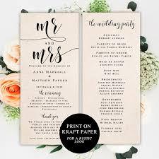 Printable Wedding Program Template For Programs 35 Best Printable Wedding Programs Images