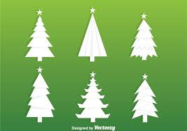 white christmas tree silhouette vectors download free vector art