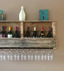 large salvaged wood wine rack with shelf home kitchen u0026 pantry