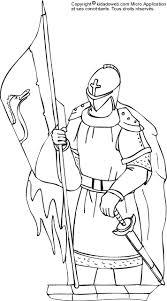 kidadoweb les coloriages de chevaliers du moyen age