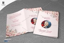 printable funeral program templates printable funeral program template brochure templates creative