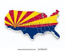 us map arizona state usa map arizona state flag all stock illustration 327868367