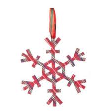 the aisle country cabin tartan plaid stellar snowflake