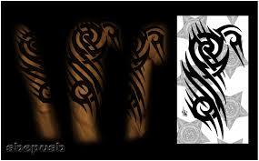 half sleeve tribal color by shepush on deviantart