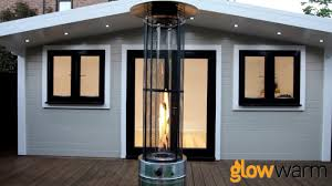 lava heat patio heaters glow warm 15kw flame patio heater bbq gas london youtube
