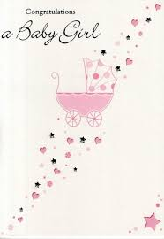 congratulations on new card congratulations a new baby girl greeting card cards kates