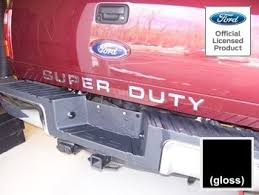 amazon com ford super duty letter inserts thin for tailgate
