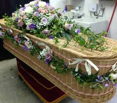 funeral casket pretty pink and lilac funeral flowers coffin casket flowers