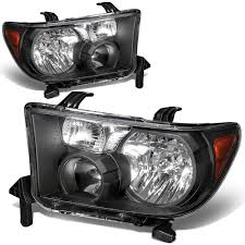 2010 toyota tundra tail light bulb replacement 07 13 toyota tundra 08 11 sequoia crystal replacement headlights