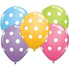 polka dot balloons 12 polka dot balloons bright festive colors assorted