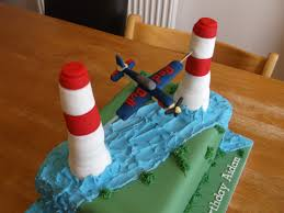 the birthday boy want a plane flying through two pylons like they