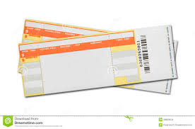 blank concert tickets stock images image 38680434