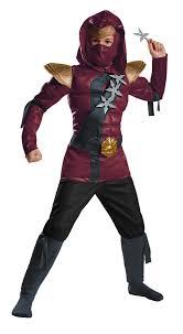 Lego Ninjago Halloween Costumes Lego Ninjago Crimson Ninja Red Fire Muscle Child Costume