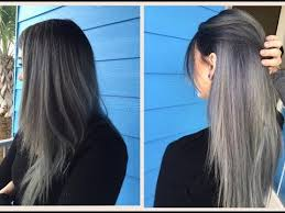 black grey hair how to do a dark grey ombre hair tutorial youtube