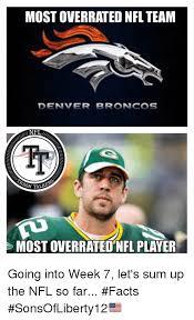 Denver Broncos Meme - most overrated nfl team denver broncos most overrated nfl player