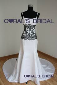 black and white wedding dresses coral s bridal